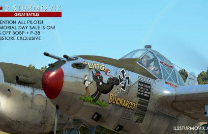 IL-2 Great Battles: Solde à -75% sur Bodenplatte et le P-38 !
