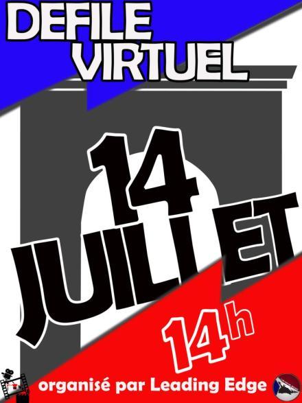 Le 14 Juillet défilons la tête haute ...virtuellement
