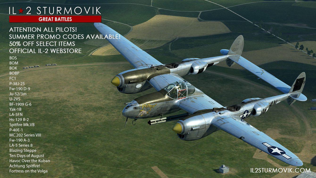 IL-2 Great Batlles: – 50% sur le store officiel en code promo !