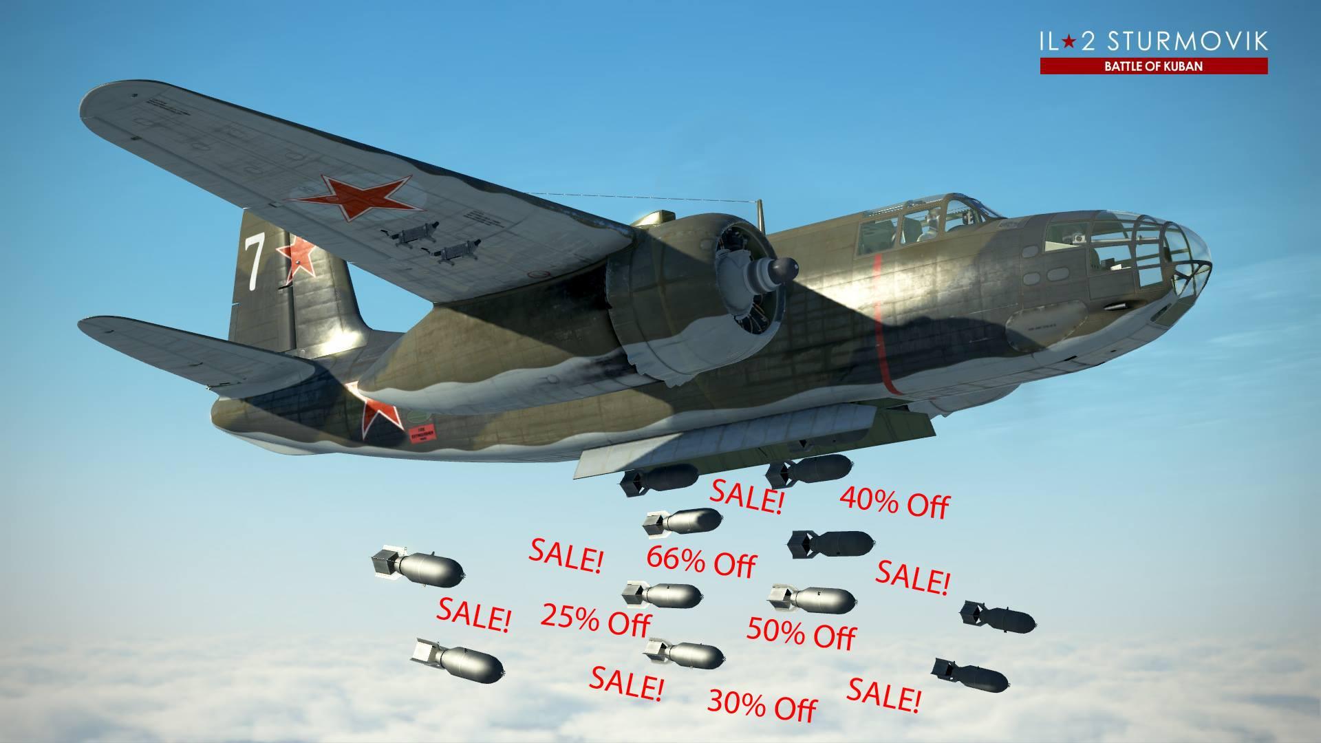 """IL-2 Great Battles: Vente """"DLC Madness"""" entre - 25 et -85% !"""